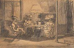Gezelschap in de Weststraat, Domburg Johannes Theodoor Jan Toorop 1903
