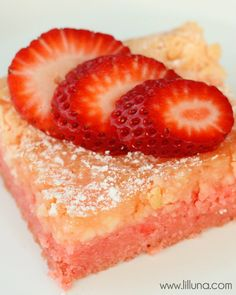 Ooey Gooey Strawberry Bars Recipe.