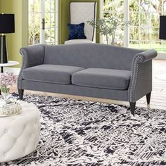House of Hampton Sarmiento Sofa Hooker Furniture, Sofa Furniture, Online Furniture, Leather Reclining Loveseat, Leather Sectional, Sofa Upholstery, Cushions On Sofa, Red Sofa, How To Clean Furniture