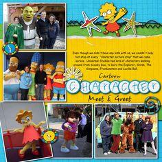 Universal Studios character meet and greet - Scrapbook.com