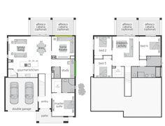 The Horizon Split Level floor plan by McDonald Jones. #mcdonaldjones #floorplan #splitlevel