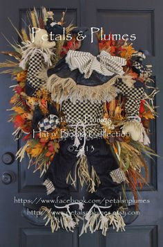 Scarecrow Wreath by PetalsnPlumes