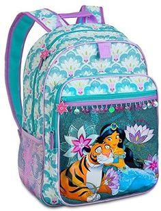 Disney Store Princess Jasmine Backpack Book Bag ** Continue to the product at the image link. Best Kids Backpacks, Cute Backpacks For School, Cool Backpacks, Disney Princess Backpack, Princess Disney, Disney Princesses, Disney Jasmine, Princess Jasmine, Princesa Elizabeth