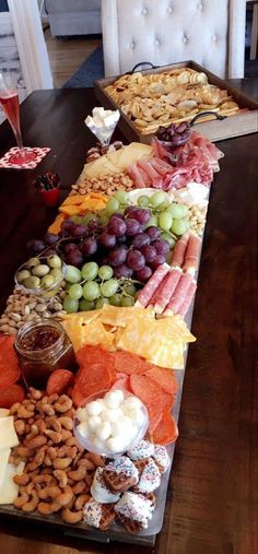 Charcuterie Board Tray , Large Cheese Tray, Platter, Charcuterie Board, Custom Tray Small Medium Large made by Foo Foo La La - Gourmet-Rezepte Plateau Charcuterie, Charcuterie And Cheese Board, Cheese Boards, Charcuterie Platter, Cheese Board Display, Charcuterie Display, Catering Display, Catering Food, Appetizer Display