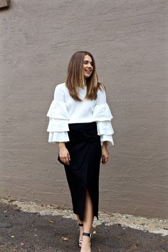 Ruffles and feminine details can be hard to pull off - here's how you can!