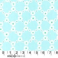 Fabric for quilt or craft, Michael Miller, Jemma in Aqua, half yard.