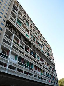 Brutalism: Unite d'Habitation in Marseille, France.  Built in 1952