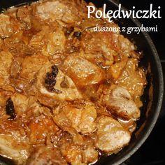 """Nadzwyczajnie smaczny """"Zwyczajny obiad"""" :) Polędwiczki wieprzowe duszone w aromatycznym sosie grzybowym podane z kaszą gryczaną to wspaniałe danie gdy za oknem śnieg i… plucha ;) …"""