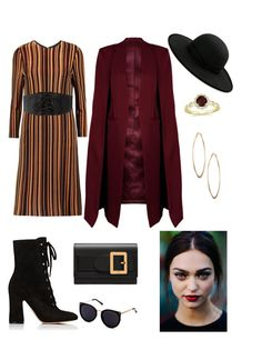 """Untitled #10"" by cjzj on Polyvore featuring Just Cavalli, Gianvito Rossi, Bally, Betmar, WithChic, Charlotte Russe and Lydell NYC"
