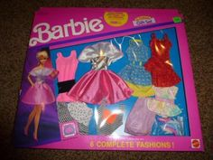 Vintage-Barbie-6-Fashion-Gift-Set-Pack-Dress-767-NRFB-1991-Shoe-Outfit-16-Piece