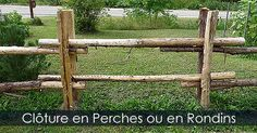 Clôture de Jardin en perches - Clôture de jardin en rondins - Guide de construction de clôtures rustiques pour le jardin. Instructions: http://www.jardinage-quebec.com/guide/installer-cloture-en-perches/cloture-decorative-4.html