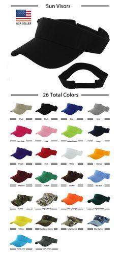 Visor Sun Plain Hat Sports Cap Colors Golf Tennis Beach New Adjustable Men  Women. Tracy Best 683652aa240