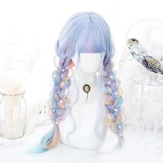 Products – Page 15 – FairytaleCreators Pelo Lolita, Lolita Hair, Kawaii Hairstyles, Pretty Hairstyles, Wig Hairstyles, Anime Wigs, Anime Hair, Cosplay Hair, Cosplay Wigs