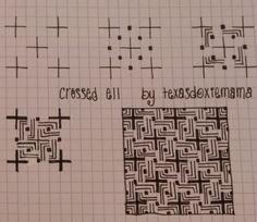 Crossed Ell~Zentangle