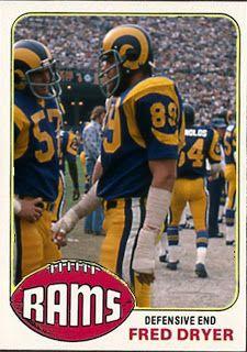 Celebration of Baseball Cards Football Trading Cards, Football Cards, Baseball Cards, La Rams, Nfl Football Teams, Vintage Football, American Football, Fred Dryer, Athlete