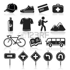 Pictogram vacation: Travel icons set