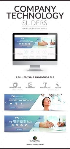 Technology Company Sliders Template PSD. Download here: http://graphicriver.net/item/company-sliders-technology/14872299?ref=ksioks