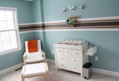 Nursery Reveal: Hunter's Striped Boy Space