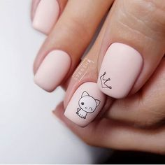 100 Most Beautiful Short Nails Designs for 2019 While some women like their nails to be long, the others find short nails practical. Check most stunning short nails designs for your inspiration. Cat Nails, Pink Nails, Stylish Nails, Trendy Nails, Short Nail Designs, Nail Art Designs, Nails Design, Nails Ideias, Gel Nagel Design