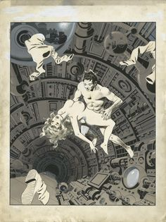This highly detailed ink and gouache art by the great Wally Wood comes from one of the artist's most memorable projects of the 1970s, his We...