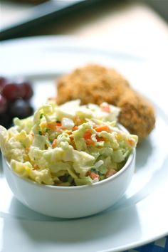 The Best Coleslaw Ever  (for the coleslaw-  1/2 head green cabbage, shredded  1/2 onion, finely diced  1 large carrot, grated  2 tablespoons chopped chives {optional}  1 cup mayonnaise  1/4 cup white vinegar  3 tablespoons sugar  salt & pepper, to taste)