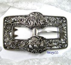 Vintage  Buckle Belt Silver Ludwig Neresheimer Hanau by Vintage55, $400.00