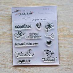Colección de sellos acrílicos UN PER L'ALTRE para Scrapbook (català) de Estrellesdecolors en Etsy