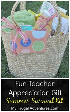 Teacher Appreciation Gift Idea- Summer Survival Kit