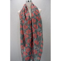Grey and Red chained skull print scarf Available from www.skullaccessories.co.uk