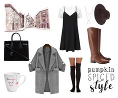 """""""Fall essentials and cold mornings"""" by mia1995fashionlover on Polyvore featuring Pfaltzgraff, Tory Burch, Free People, Miss Selfridge, Yves Saint Laurent and Botkier"""