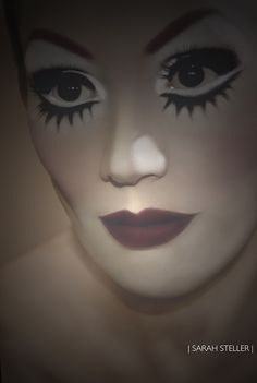 Alegria #Cirque du Soleil Makeup with Illustration. by Sarah Steller