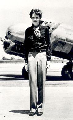 Amelia Earhart, first women to fly across the Atlantic ocean alone.
