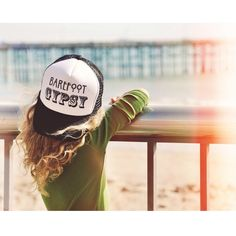 """""""How we spend our days is, of course, how we spend our lives."""" Annie DillardThis one is for the gypsy souls!The ones who love to roam the earth barefoot!:::Wild:::Free:::AdventurousYouth size black and white trucker hat with black/bold ink."""