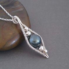 blue Lotus wire wrapped necklace   Jewelry DIY - Wirework & Wire Wrapping... #jewelrydiy