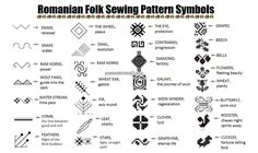 romanian pattern protection symbols and their meanings Symbole Protection, Protection Symbols, Stitch Patterns, Embroidery Patterns, Sewing Patterns, Tribal Tattoos, Tatoos, Outline, Symbols And Meanings