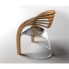 Modern sandalye: Silla de madera y metal • Chair from Wood + Metal