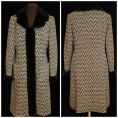 Vintage 1960's Wool Chevron Coat / Size SM-Med / by CicelysCloset