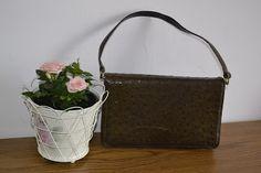 Handmade, Vintage - Pixalia - haine si accesorii faine: Geanta vintage din piele naturala de strut
