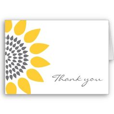 Sunflower Thank You Card - do this with the big rounds dot pattern stamps