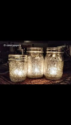 Put glitter on basically anything and put a candle in it for instant pretty, shimmery, glamour!