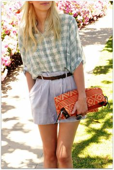 Coury Combs of Fancy Treehouse | Love the lace under the check shirt.
