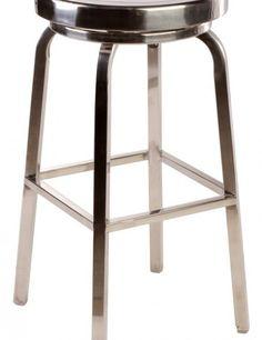 stainless steel swiveling bar stool
