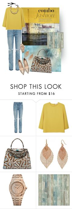 """Без названия #1909"" by marina-smile-nazarenko ❤ liked on Polyvore featuring Paul Frank, GRLFRND, MANGO, Fendi, Bold Elements, Audemars Piguet, RoomMates Decor and J.Crew"