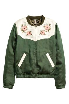 Embroidered bomber jacket | H&M