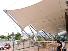 Entrance canopy tensile