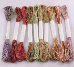Silk Embroidery Floss cross stitch 6 Stranded by NellsEmbroidery, $17.00
