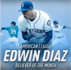 How sweet it is. For the second time this season, Edwin Díaz is your American League Reliever of the Month. Mariners Baseball, Seattle Mariners, American League, Congratulations, Two By Two, Seasons, Baseball Cards, Sweet, Sports