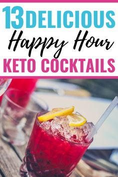 13 Keto Cocktail recipes to enjoy after a long day of ketogenic dieting! These low carb alcoholic co Low Carb Cocktails, Low Sugar Alcoholic Drinks, Mixed Drinks Alcohol, Drinks Alcohol Recipes, Cocktail Recipes, Alcoholic Beverages, Drink Recipes, Healthy Sugar, Healthy Sweets