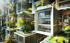 "Eco Village ""Coral Reef"" by Vincent Callebaut"