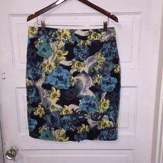 Ann Taylor skirt Mid length bold colors Ann Taylor Skirts Midi